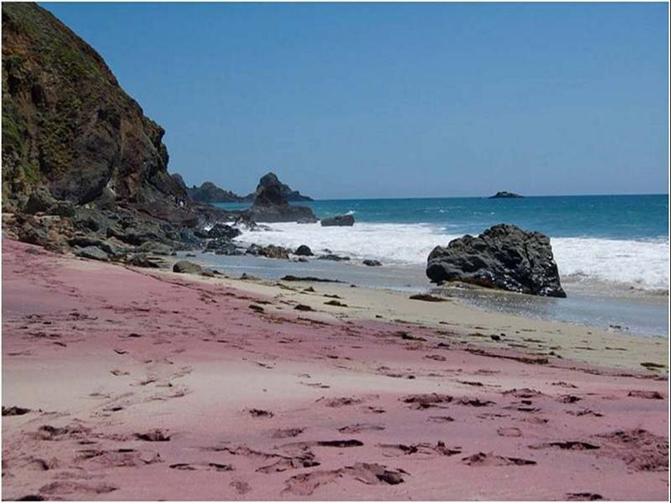 Sabbia porpora, Pfeiffer Beach, Big Sur, California, USA.