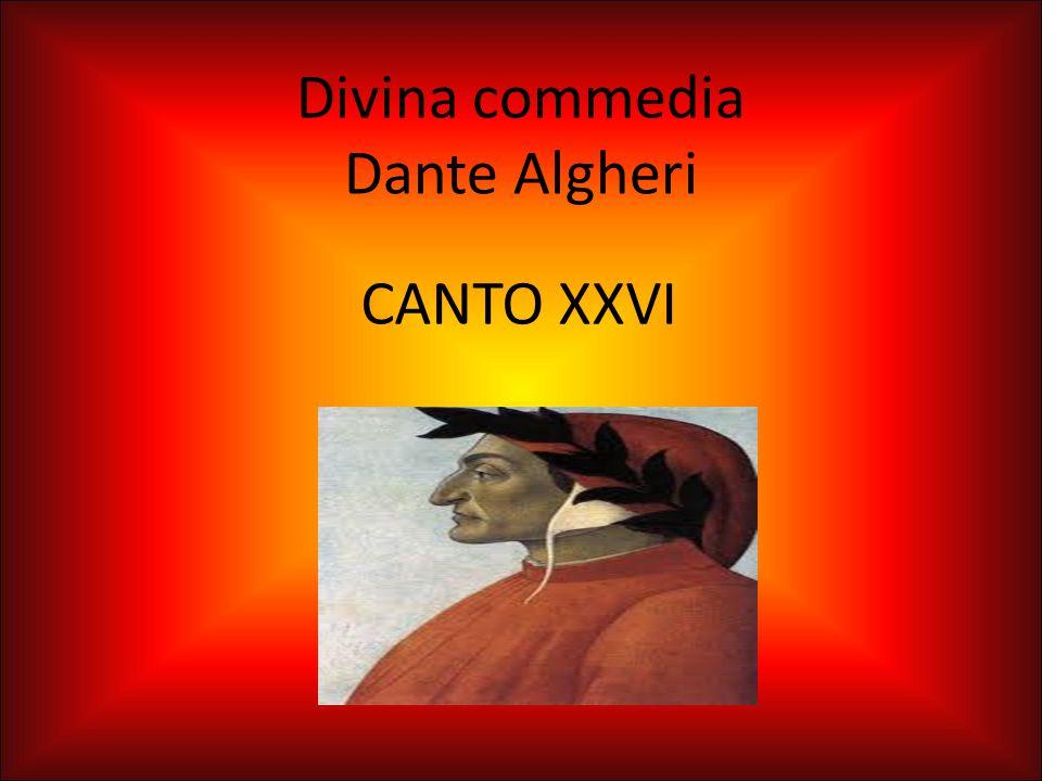 Divina commedia Dante Algheri CANTO XXVI