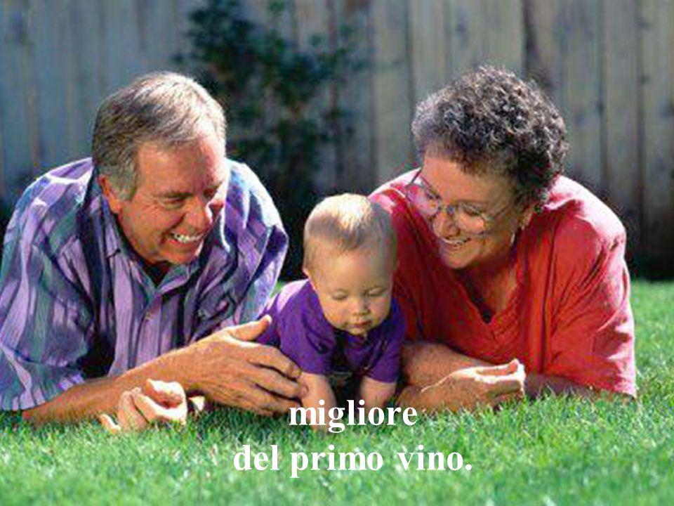 deve venire un secondo vino, cioè, deve fermentare e crescere, maturare.