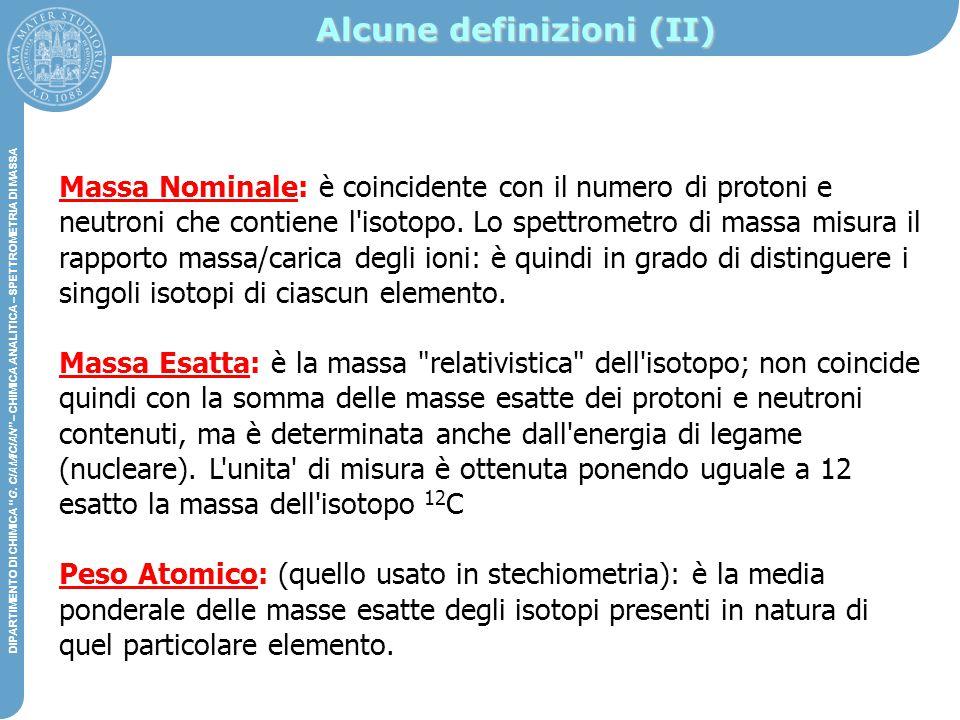 """DIPARTIMENTO DI CHIMICA """"G. CIAMICIAN"""" – CHIMICA ANALITICA STRUMENTALE DIPARTIMENTO DI CHIMICA """"G. CIAMICIAN"""" – CHIMICA ANALITICA – SPETTROMETRIA DI M"""