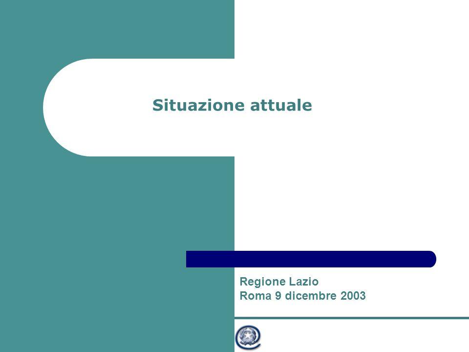 Ministro per l'Innovazione e le Tecnologie Situazione attuale Regione Lazio Roma 9 dicembre 2003