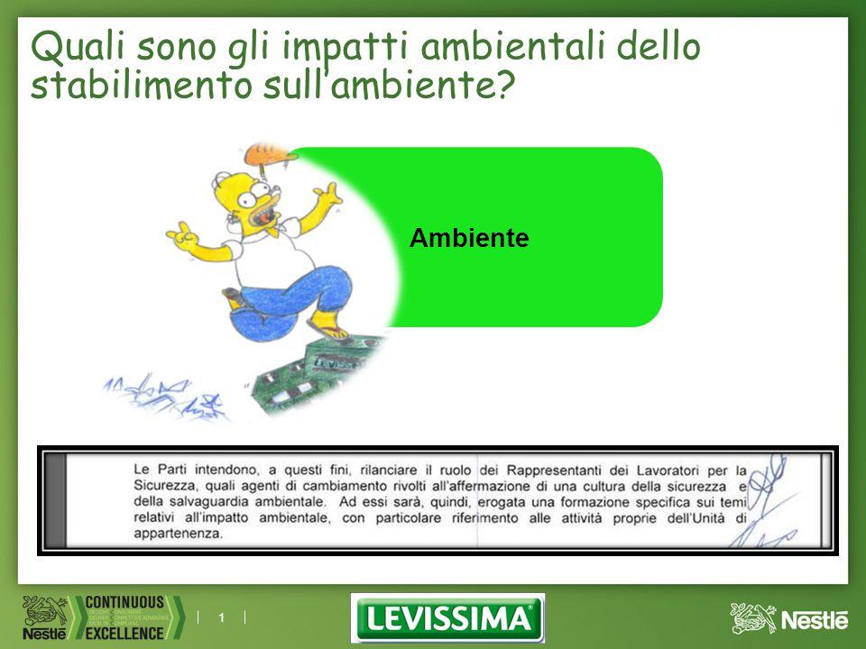 1 Ambiente Quali sono gli impatti ambientali dello stabilimento sull'ambiente?