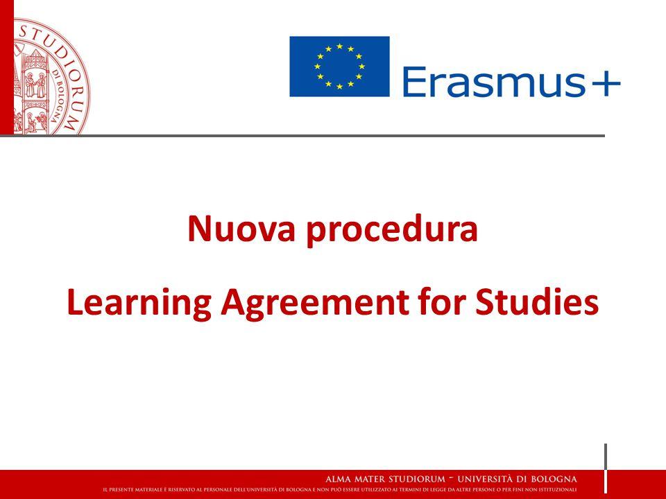 Nuova procedura Learning Agreement for Studies