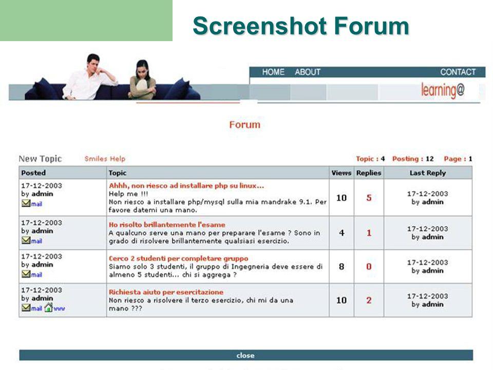 Piattaforma E-learningScuola - OspedaleProgetto M.A.G. Ritorno H Screenshot Forum