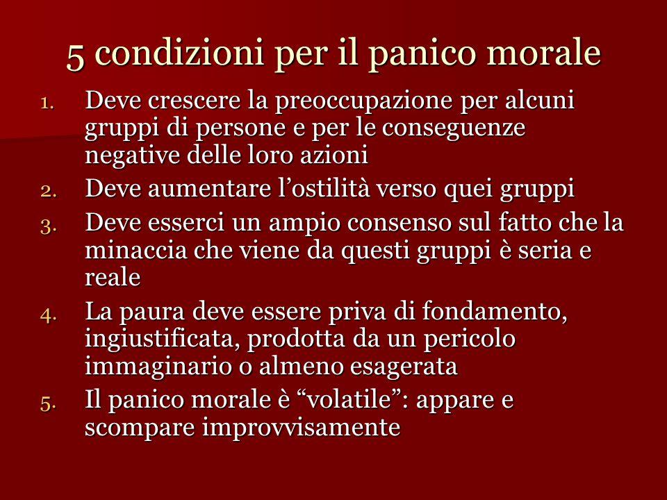 5 condizioni per il panico morale 1.