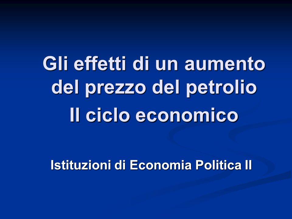 Gli effetti di un aumento del prezzo del petrolio Il ciclo economico Istituzioni di Economia Politica II