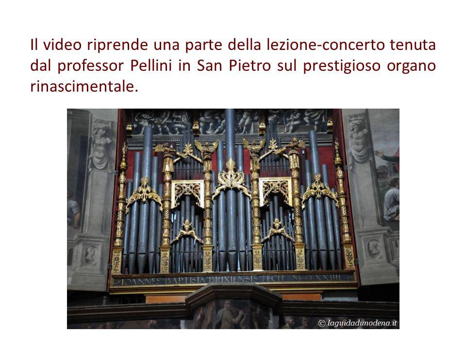 Dopo aver ascoltato i vari registri dell organo nelle loro molteplici combinazioni abbinate all uso delle tastiere e la Toccata e fuga di Bach, la lezione si è conclusa con un brano di G.