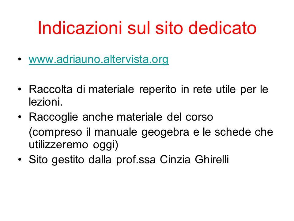 Prima di tutto installiamo Geogebra Vai sul sito www.geogebra.orgwww.geogebra.org Download Scegli il sistema operativo Verrà scaricato gratuitamente il sofware di geometria dinamica GeoGebra 4.4… Procedi all'installazione seguendo le indicazioni.