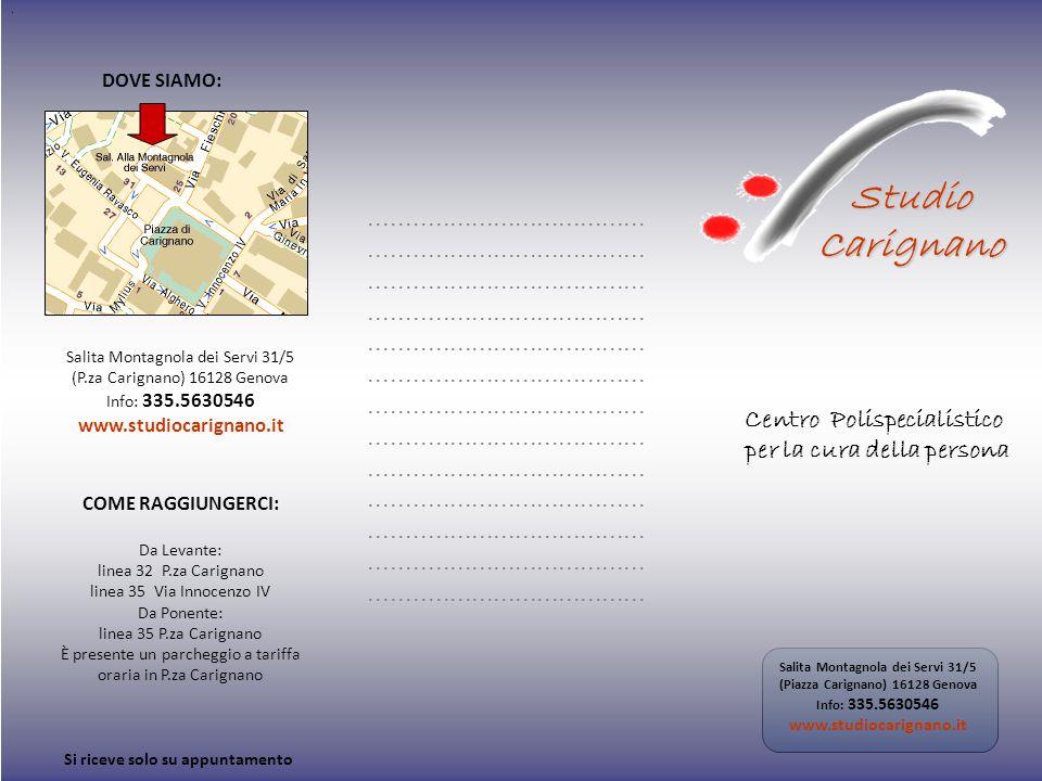 . COME RAGGIUNGERCI: Da Levante: linea 32 P.za Carignano linea 35 Via Innocenzo IV Da Ponente: linea 35 P.za Carignano È presente un parcheggio a tari