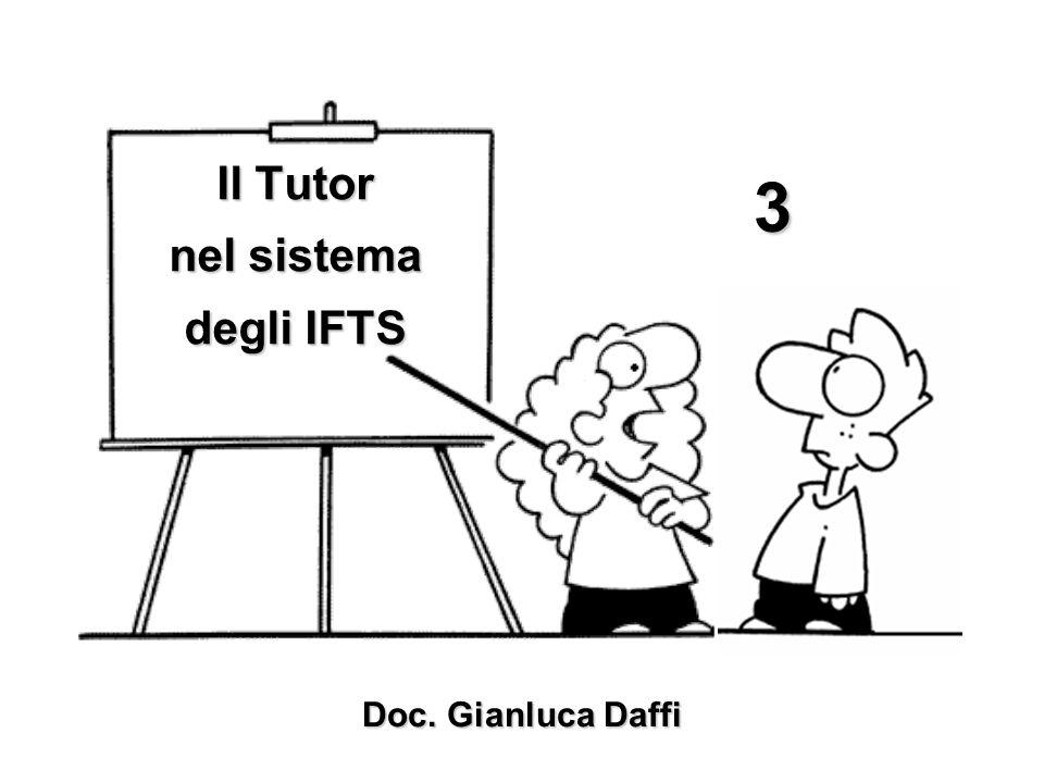 Il Tutor nel sistema degli IFTS Doc. Gianluca Daffi 3