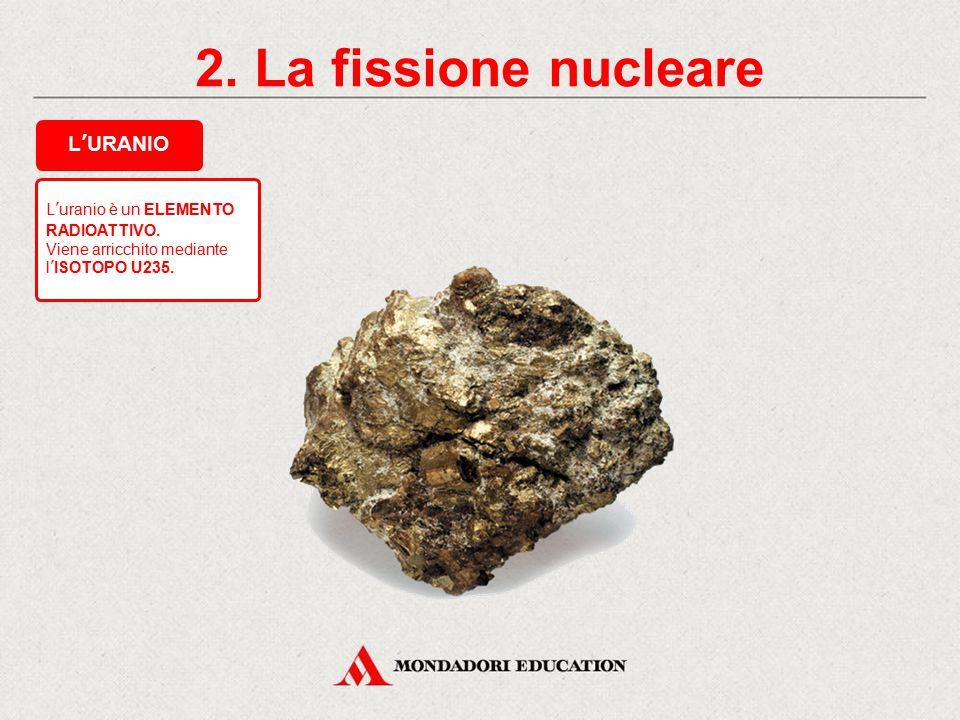 1. L'energia dell'atomo FISSIONE NUCLEAREFUSIONE NUCLEARE SVILUPPO DI UNA GRANDE QUANTITÀ DI ENERGIA Una centrale nucleare