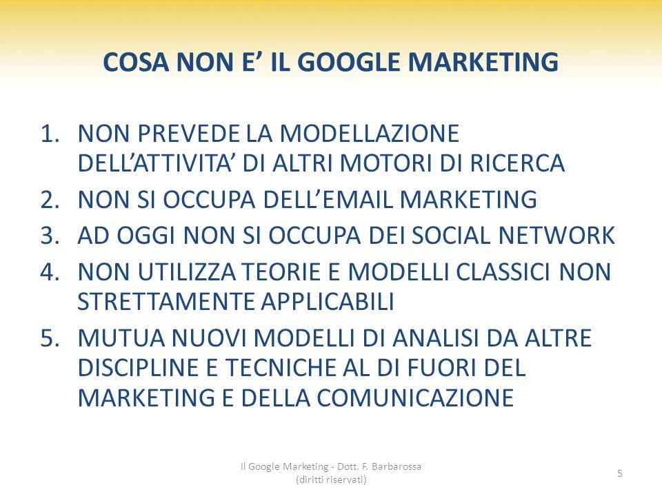 Il Google Marketing - Dott. F. Barbarossa (diritti riservati) 16