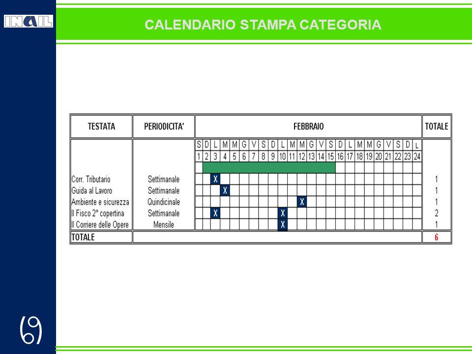  CALENDARIO STAMPA CATEGORIA