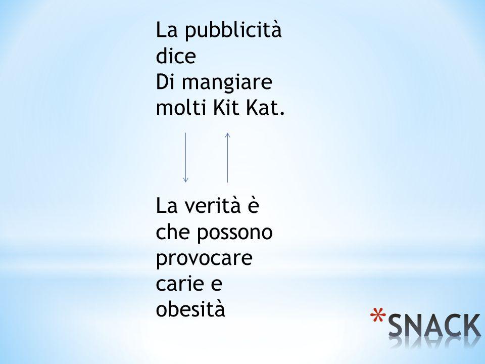 La pubblicità dice Di mangiare molti Kit Kat. La verità è che possono provocare carie e obesità