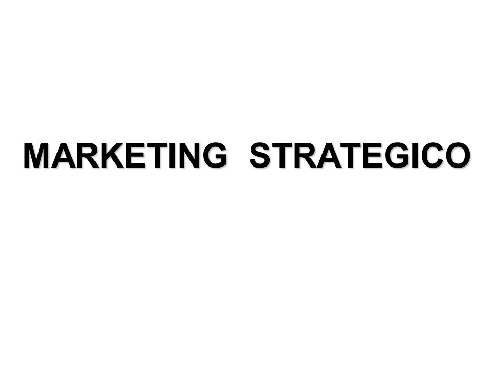 MARKETING STRATEGICO