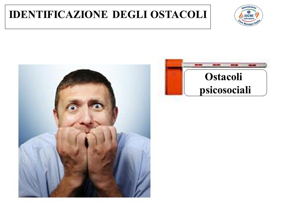 Ostacoli psicosociali IDENTIFICAZIONE DEGLI OSTACOLI
