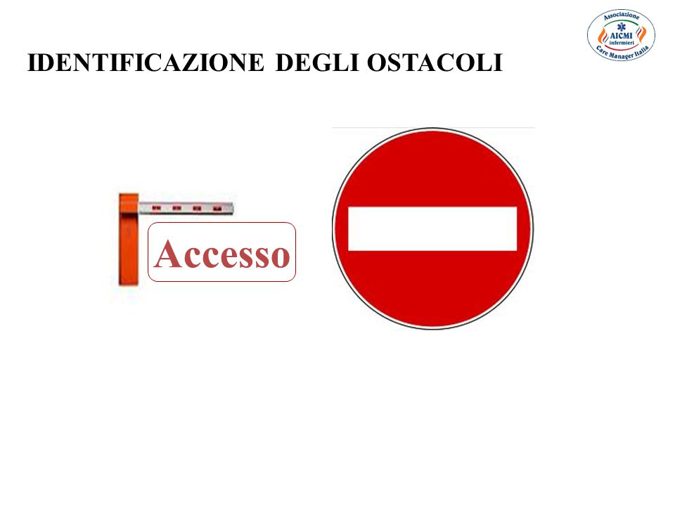 IDENTIFICAZIONE DEGLI OSTACOLI Accesso