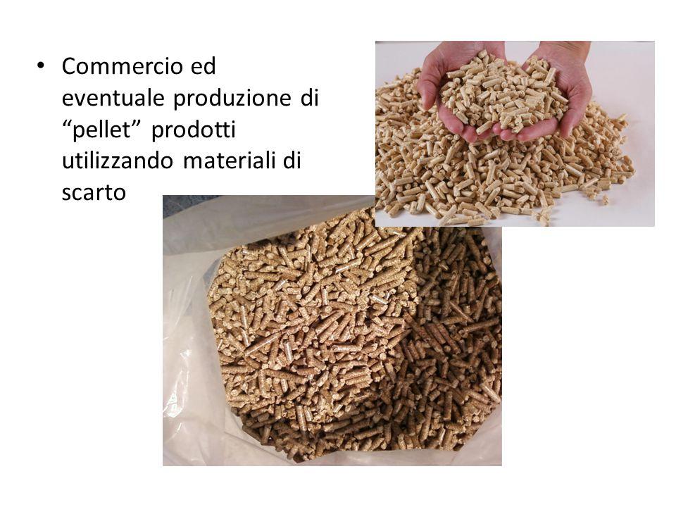 """Commercio ed eventuale produzione di """"pellet"""" prodotti utilizzando materiali di scarto"""