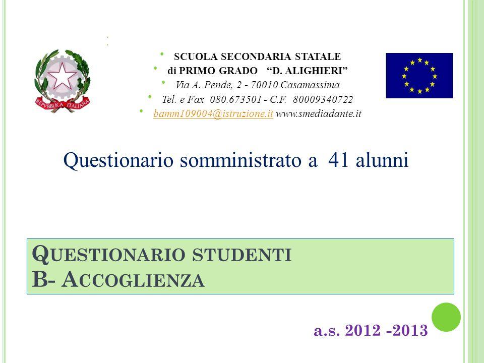 A UTOVALUTAZIONE D ' ISTITUTO CLASSI IIIC – IIIL T EMPO PROLUNGATO a.s.
