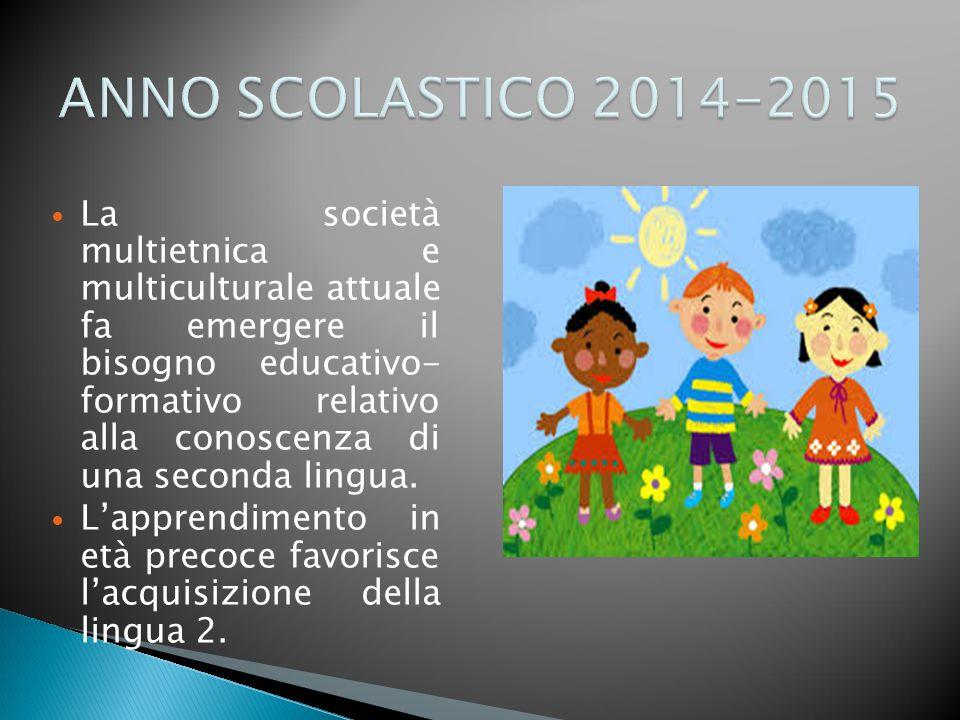 La società multietnica e multiculturale attuale fa emergere il bisogno educativo- formativo relativo alla conoscenza di una seconda lingua.