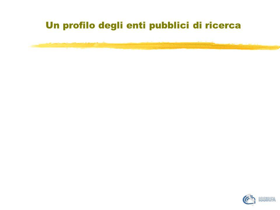 Un profilo degli enti pubblici di ricerca