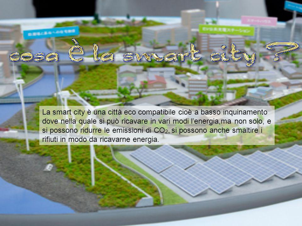 La smart city è una città eco compatibile cioè a basso inquinamento dove nella quale si può ricavare in vari modi l'energia,ma non solo, e si possono