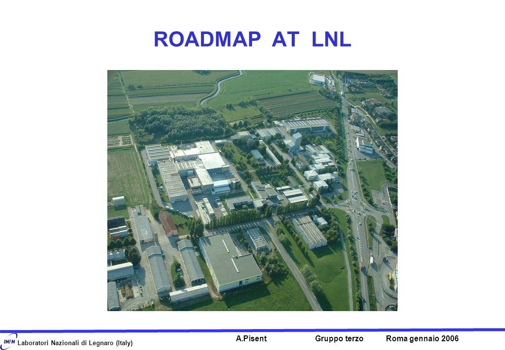 Laboratori Nazionali di Legnaro (Italy) A.Pisent Gruppo terzo Roma gennaio 2006 ROADMAP AT LNL
