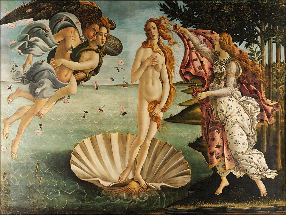 Il dipinto ha per protagonista Venere Anadiomene nata dalla spuma del mare.