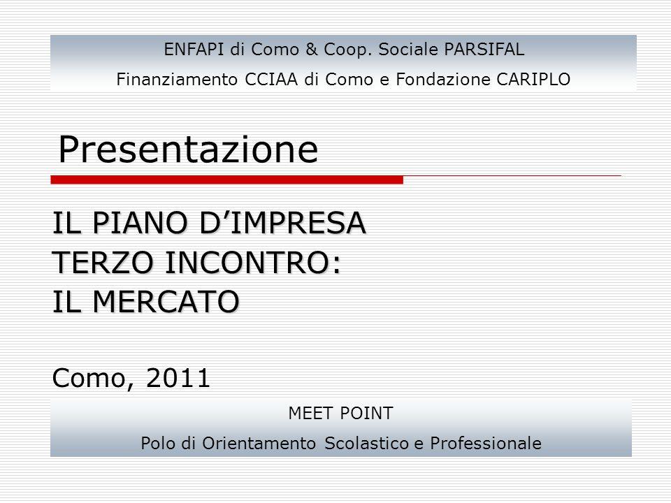 Presentazione IL PIANO D'IMPRESA TERZO INCONTRO: IL MERCATO Como, 2011 ENFAPI di Como & Coop.