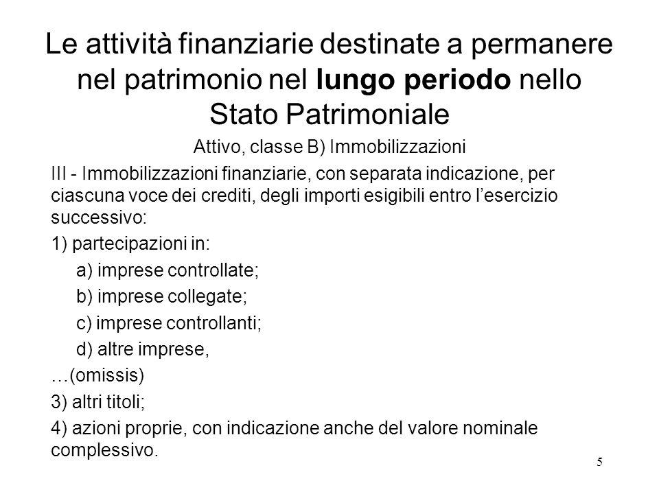 5 III - Immobilizzazioni finanziarie, con separata indicazione, per ciascuna voce dei crediti, degli importi esigibili entro l'esercizio successivo: 1