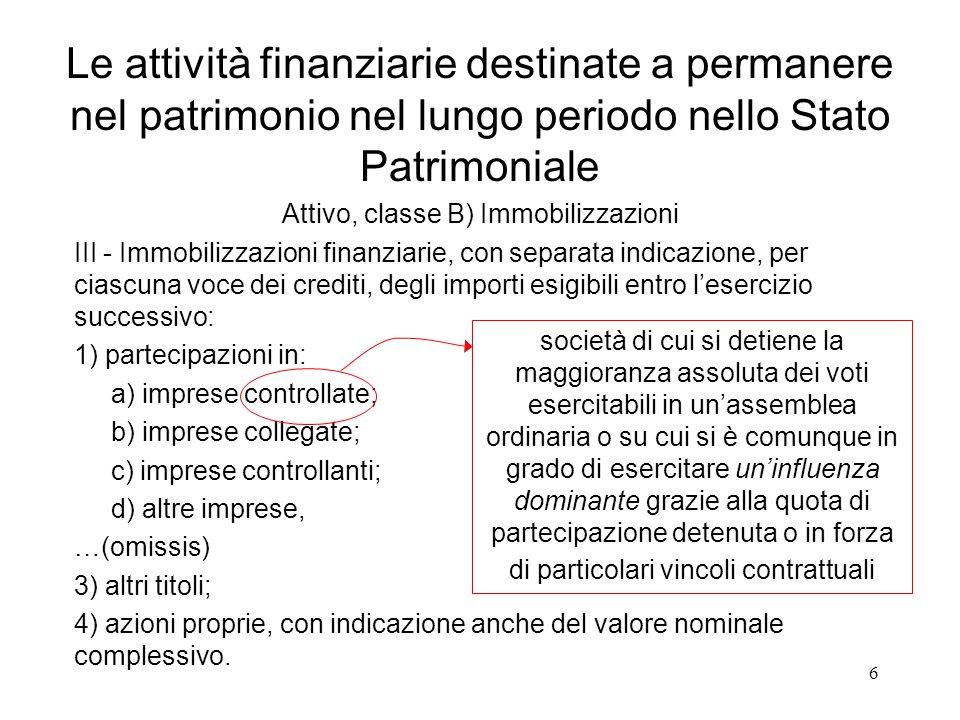 6 III - Immobilizzazioni finanziarie, con separata indicazione, per ciascuna voce dei crediti, degli importi esigibili entro l'esercizio successivo: 1