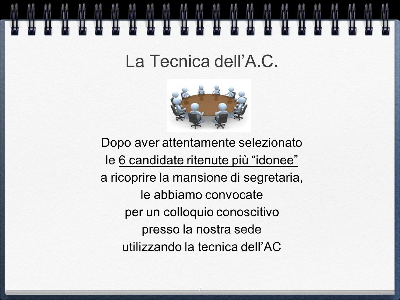 2 La Tecnica dell'A.C.