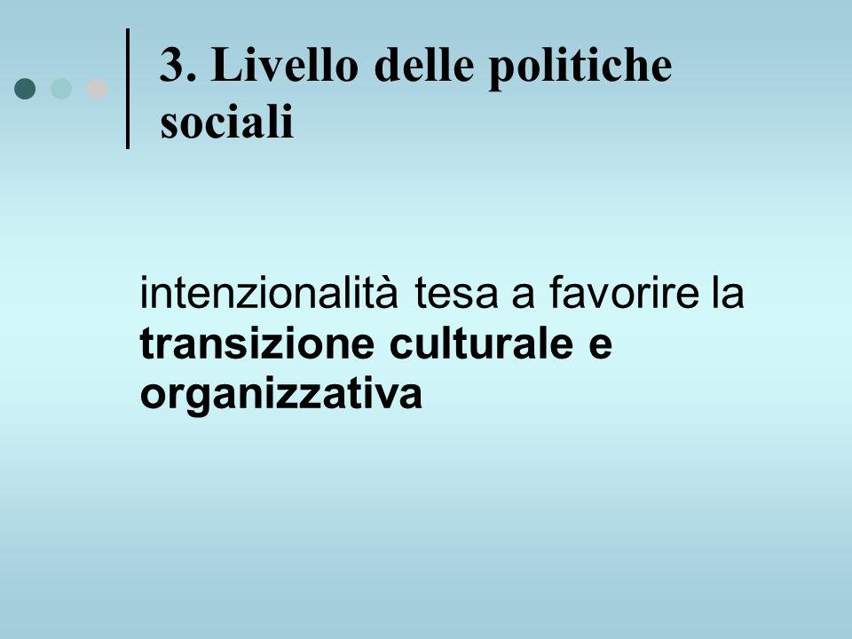 intenzionalità tesa a favorire la transizione culturale e organizzativa 3.