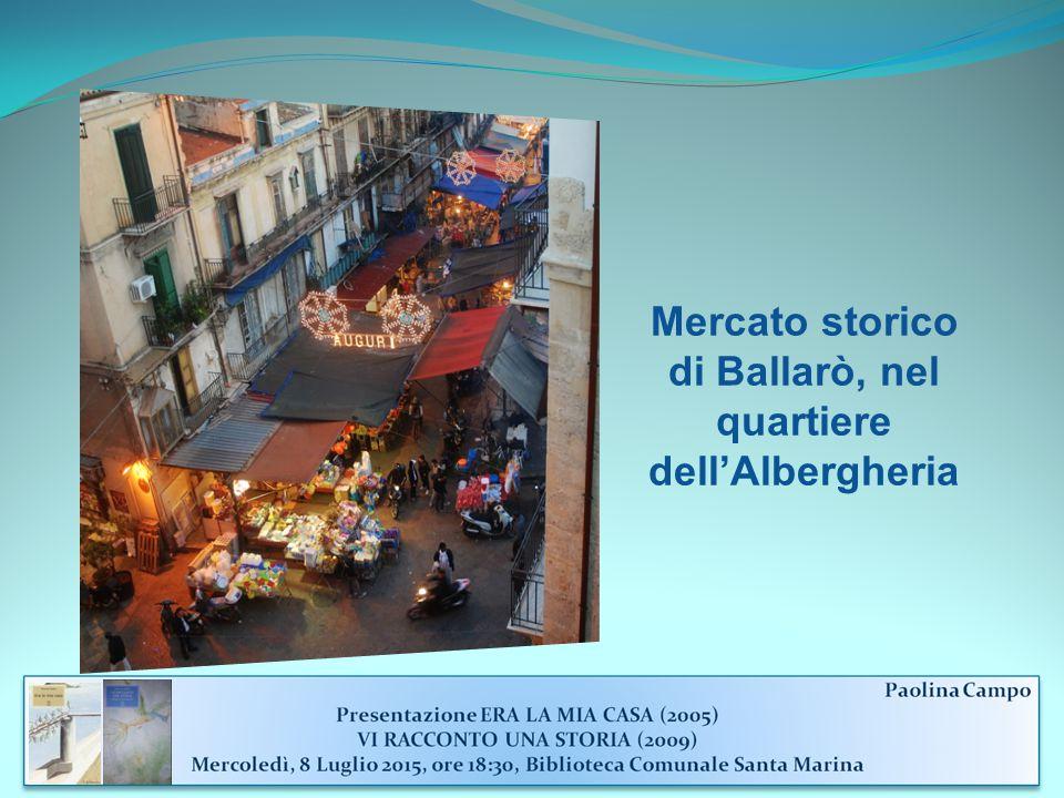 Mercato storico di Ballarò, nel quartiere dell'Albergheria