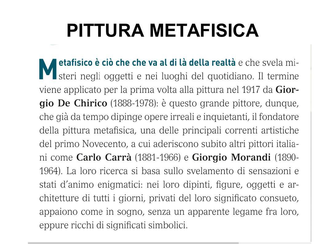 PITTURA METAFISICA