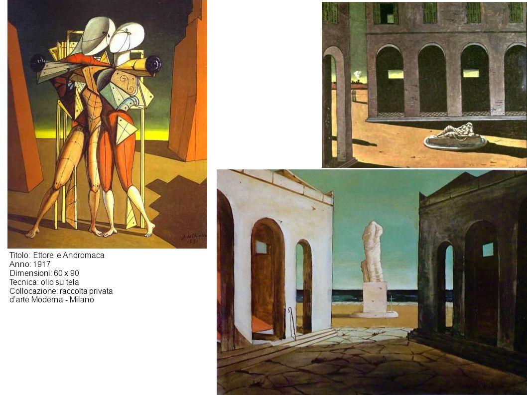 Titolo: Ettore e Andromaca Anno: 1917 Dimensioni: 60 x 90 Tecnica: olio su tela Collocazione: raccolta privata d'arte Moderna - Milano