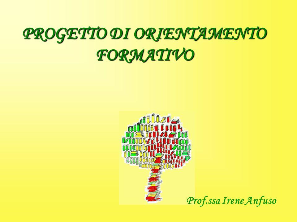 PROGETTO DI ORIENTAMENTO FORMATIVO Prof.ssa Irene Anfuso