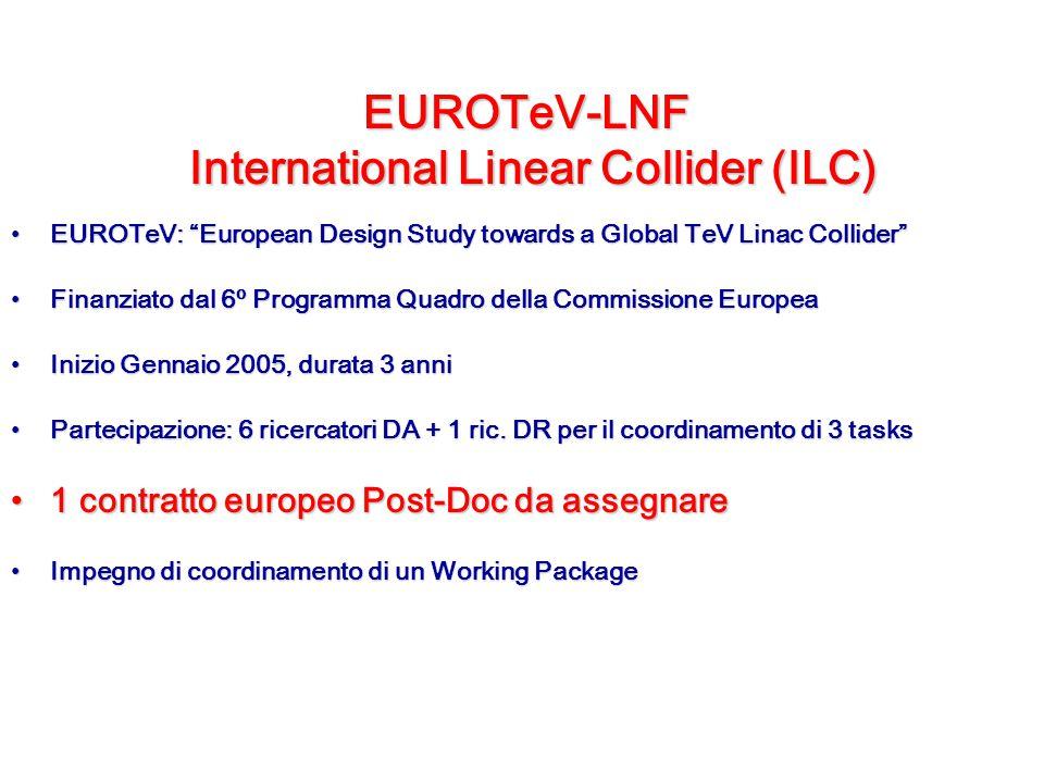 "EUROTeV-LNF International Linear Collider (ILC) EUROTeV: ""European Design Study towards a Global TeV Linac Collider""EUROTeV: ""European Design Study to"