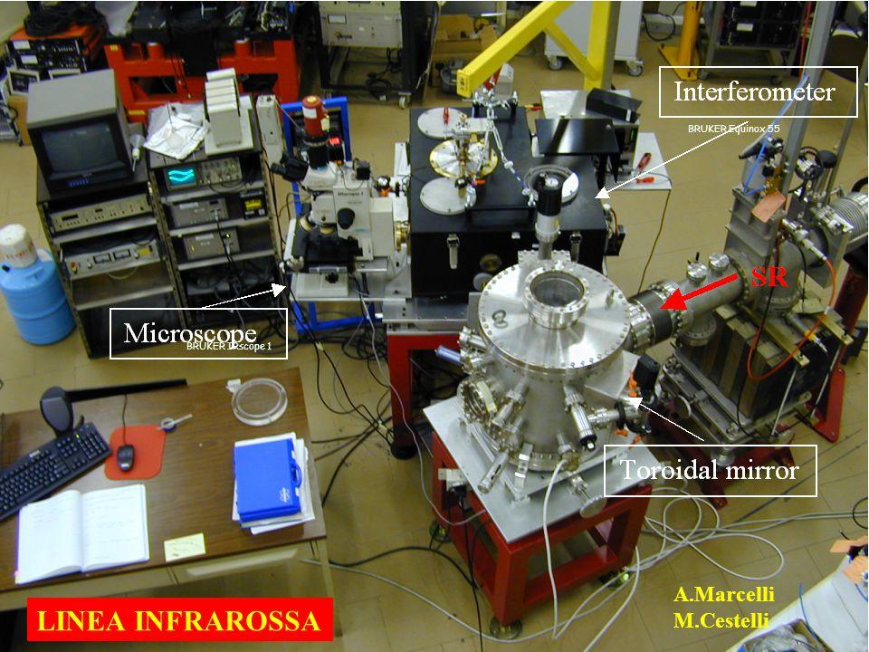 BRUKER Equinox 55 BRUKER IRscope 1 LINEA INFRAROSSA A.Marcelli M.Cestelli