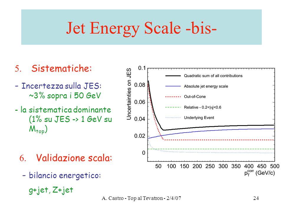 A. Castro - Top al Tevatron - 2/4/0724 Jet Energy Scale -bis- 6.