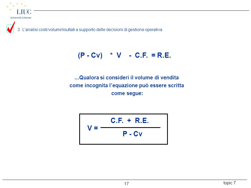topic 7 17 (P - Cv) * V - C.F.