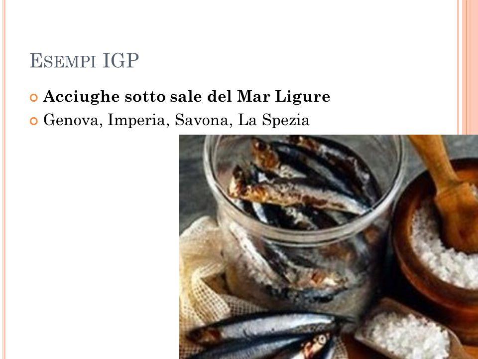 E SEMPI IGP Acciughe sotto sale del Mar Ligure Genova, Imperia, Savona, La Spezia