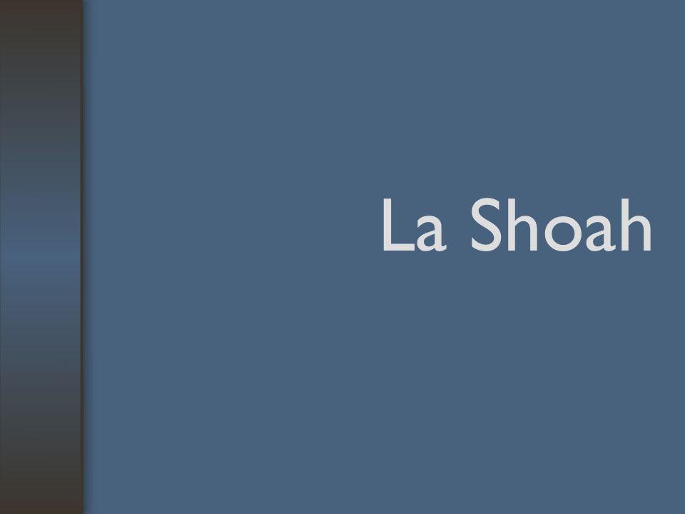 Terminologia SHOA Pogrom Catastrofe, disastro Sacrificio, espiazione Genocidio, sciagura Azione criminale finalizzata alla distruzione di un gruppo etnico, nazionale, razziale o religioso termine russo che significa devastazione .