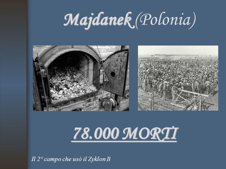 Majdanek Majdanek (Polonia) 78.000 MORTI Il 2° campo che usò il Zyklon B