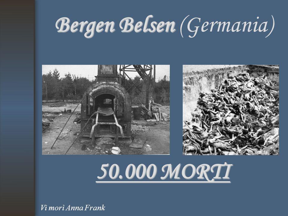 Bergen Belsen Bergen Belsen (Germania) 50.000 MORTI Vi morì Anna Frank
