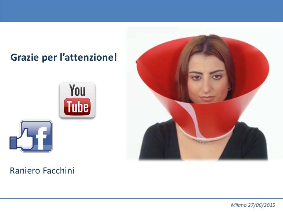 Raniero Facchini Grazie per l'attenzione!