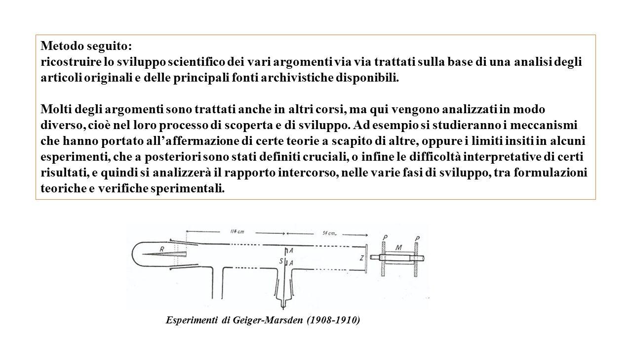 Parte I: Dalla Fisica Classica alla Meccanica Quantistica 1) Le tre grandi scoperte di fine 800: i raggi X, la radioattività, l elettrone.