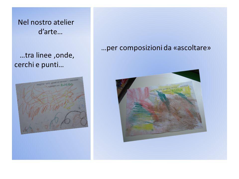 Nel nostro atelier d'arte… …per composizioni da «ascoltare» …tra linee,onde, cerchi e punti…