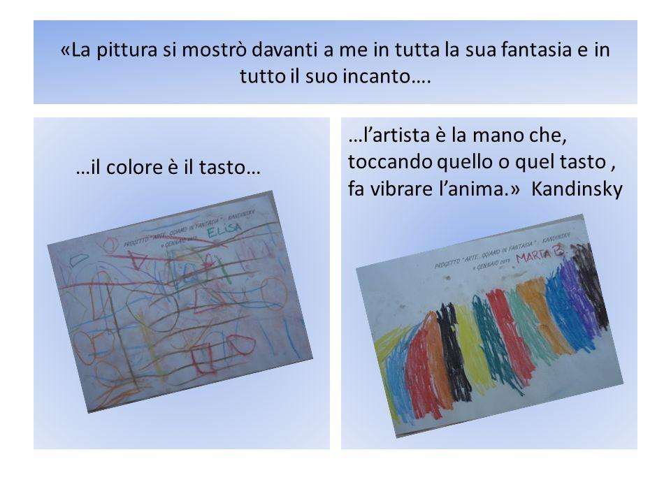 «La pittura si mostrò davanti a me in tutta la sua fantasia e in tutto il suo incanto…. …il colore è il tasto… …l'artista è la mano che, toccando quel