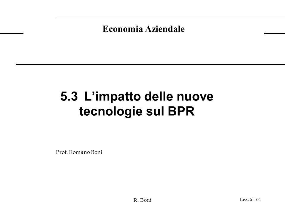 R. Boni Lez. 5 - 64 Economia Aziendale Prof.